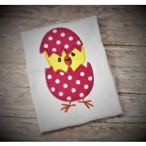 Cracked Egg Chick Applique Design