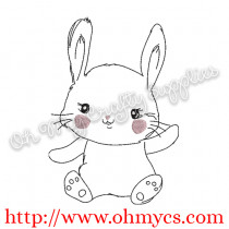 Cute Baby Bunny Embroidery Design