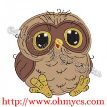 Cutie Baby Owl Applique