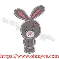 Cutie Bunny Applique