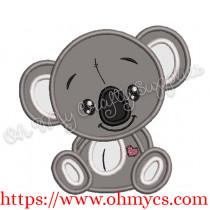 Cutie Koala Applique