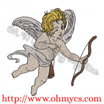 Cutie Cupid Embroidery Design