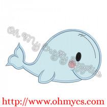 Cutie Baby Whale Applique