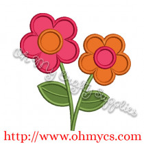 Double Flower Applique Design