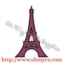 Eiffel Tower Applique Design / Paris / France