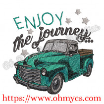 Enjoy the journey Embroidery Design