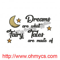 Fairy Tale Dreams Embroidery Design
