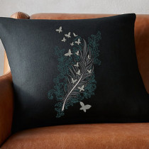Feather Butterflies Embroidery Design