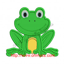 Frog Applique Embroidery Design