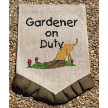 Gardener on Duty Sketchy Embrodery Design