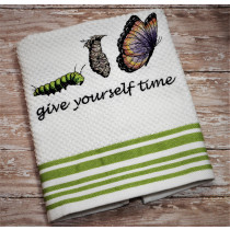Give yourself Time Embroidery Design