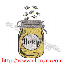 Honey Jar Embroidery Design