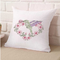 Henna Heart with Hummingbird Frame Embroidery Design