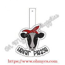 ITH Heifer Please Key Fob Embroidery Design