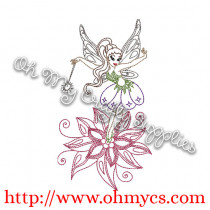 Henna Fairy Embroidery Design