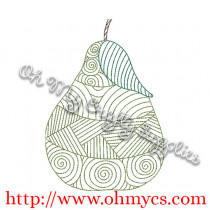 Henna Pear Embroidery Design