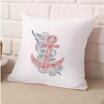 Swirly Henna Anchor Embroidery Design