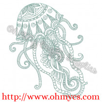 Henna Jellyfish Embroidery Design