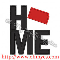 Home Kansas Applique Design