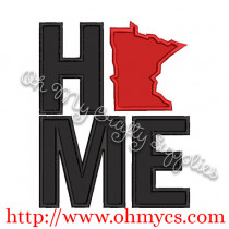 Home Minnesota Applique Design