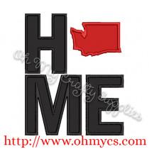 Home Washington Applique Design