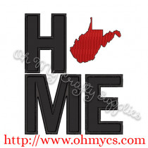 Home West Virginia Applique Design