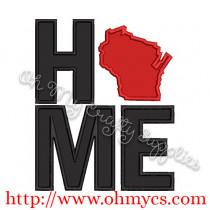 Home Wisconsin Applique Design