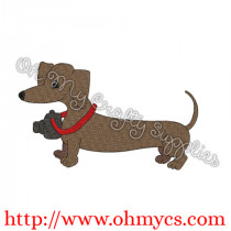 Photo Pup Embroidery Design