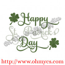Happy St. Patrick's Day Embroidery Design