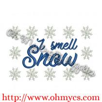 I Smell Snow Embroidery Design