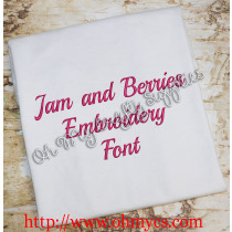 Jam and Berries Embroidery Font (BX included)