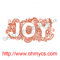 Joy 5x7 Embroidery Design