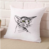 Kitty Cat Sketch  Embroidery Design