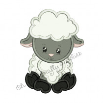 Lamb Applique Embroidery Design