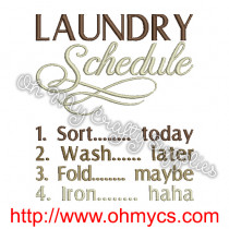 laundryschedule