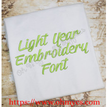Light Year Embroidery Font (BX Format included)