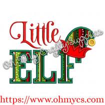 Little Elf Applique Design