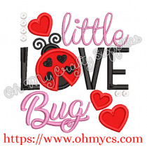 Little Love Bug Applique Design Embroidery
