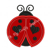 Lady Bug Applique Embroidery Design