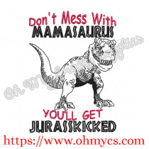 Mamasaurus Embroidery Design