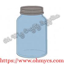 Mason Jar Applique Design