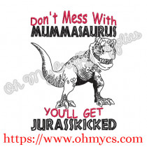 Mummasaurus Embroidery Design