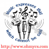 Musical Expression Embroidery Design