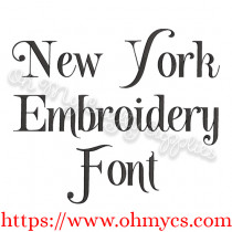 New York Embroidery Font (BX Included)