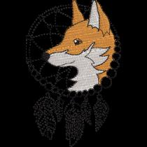 Aztec Fox Dream Catcher Embroidery Design