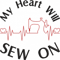 Heart Will Sew On Embroidery Design