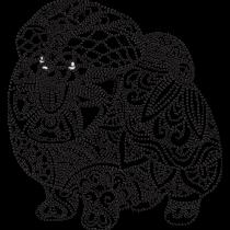 Henna Full Body Pomeranian Embroidery Design