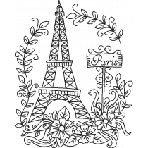 Paris Doodle Embroidery Design