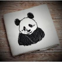 Sketch Panda Embroidery Design