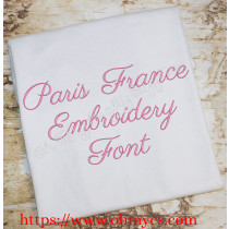 Paris France Embroidery Font (BX Included)